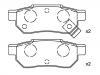 Brake Pad Set:43022-ST3-E00